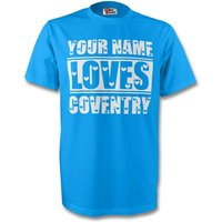 Image of Your Name Loves Coventry T-shirt (sky)