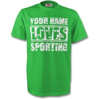 Your Name Loves Sporting T-shirt (green) - Kids