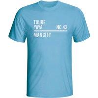 Yaya Toure Man City Squad T-shirt (sky)