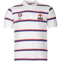 England UEFA Euro 2016 Polo Shirt (White-Navy)