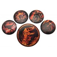 Jurassic World Fallen Kingdom Button Badge Set