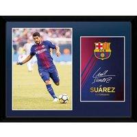 F.C. Barcelona Picture Suarez 16 x 12
