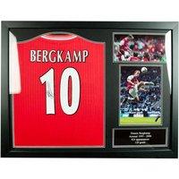 Arsenal F.C. Bergkamp Signed Shirt (Framed)