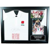 England R.F.U. Johnson Signed Shirt (Framed)