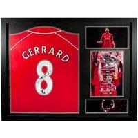 Liverpool F.C. Gerrard Signed Shirt Honours (Framed)