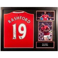 Manchester United F.C. Rashford Signed Shirt (Framed)