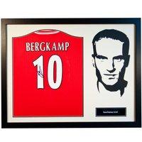 Arsenal F.C. Bergkamp Signed Shirt Silhouette