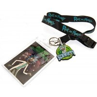 Rick And Morty Lanyard & Keyring Set Schwifty