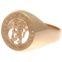 Chelsea F.C. 9ct Gold Crest Ring Large