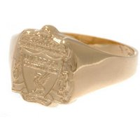 Liverpool F.C. 9ct Gold Crest Ring Medium