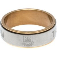 West Ham United F.C. Bi Colour Spinner Ring Small CT