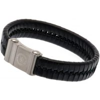 Chelsea F.C. Single Plait Leather Bracelet