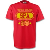 Spain Spa T-shirt (red) + Your Name (kids)