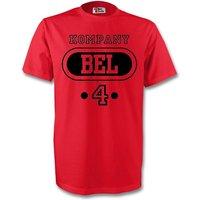 Vincent Kompany Belgium Bel T-shirt (red) - Kids