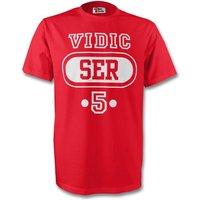Nemanja Vidic Serbia Ser T-shirt (red)