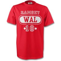 Aaron Ramsey Wales Wal T-shirt (red)