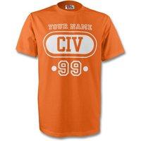 Ivory Coast Civ T-shirt (orange) + Your Name (kids)