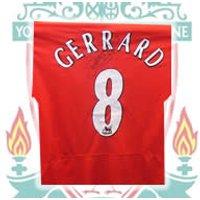 Signed Steven Gerrard Liverpool shirt
