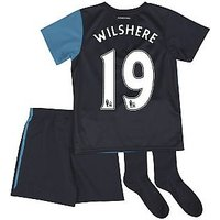 2011-12 Arsenal Away Little Boys Mini Kit (Wilshere 19)