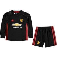 2016-2017 Man Utd Adidas Home Goalkeeper Little Boys Mini Kit