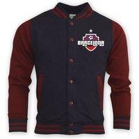 Image of Barcelona College Baseball Jacket (navy)