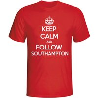 Keep Calm And Follow Southampton T-shirt (red)