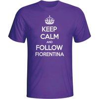 Keep Calm And Follow Fiorentina T-shirt (purple) - Kids