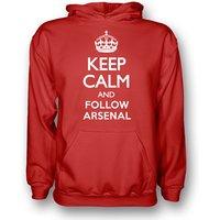 Keep Calm And Follow Arsenal Hoody (red) - Kids
