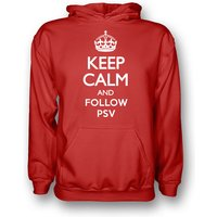 Keep Calm And Follow Psv Eindhoven Hoody (red) - Kids