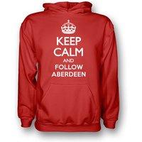 Keep Calm And Follow Aberdeen Hoody (red) - Kids