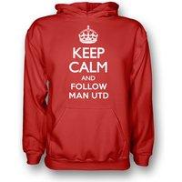 Keep Calm And Follow Man Utd Hoody (red) - Kids
