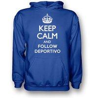 Keep Calm And Follow Deportivo Hoody (blue) - Kids