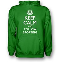 Keep Calm And Follow Sporting Lisbon Hoody (green) - Kids
