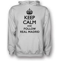 Keep Calm And Follow Valencia Hoody (white) - Kids