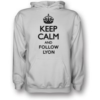 Keep Calm And Follow Lyon Hoody (white)