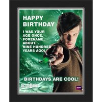 Personalised Doctor Who Birthday Photo