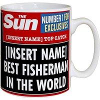 Personalised The Sun Best Fisherman Mug