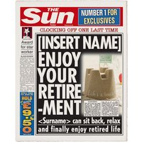 Personalised The Sun Retirement Newspaper
