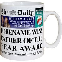 Personalised The Daily Father of the Year Mug