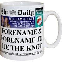 Personalised The Daily Wedding Mug