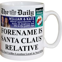 Personalised The Daily Santa's Closest Relative Mug