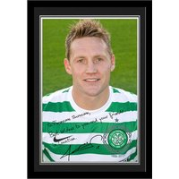 Personalised Celtic Kris Commons Autograph Photo   Mounted & Framed