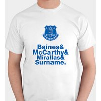 Personalised Everton Player T-Shirt