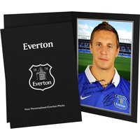 Personalised Everton Jagielka Autograph Photo - Mounted & Framed