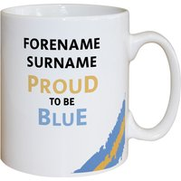 Personalised Manchester City Proud to be Blue Mug