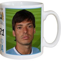 Personalised Manchester City FC Silva Signature Mug