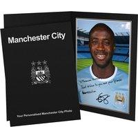 Personalised Yaya Toure Autograph Photo - Presentation Folder