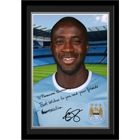 Personalised Yaya Toure Autograph Photo   Mounted and Framed