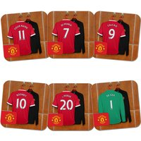 Personalised Manchester United Dressing Room Coaster (6 pack)