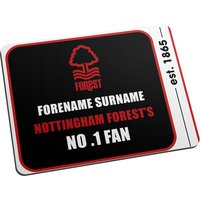 Personalised Nottingham Forest No.1 Fan Mouse Mat